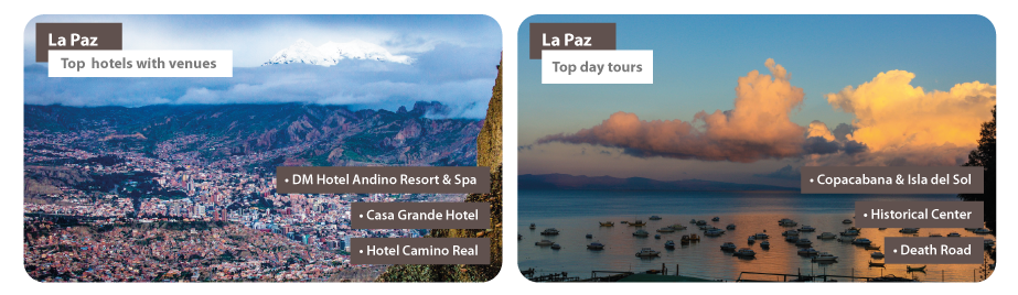 Bolivia La Paz MICE Hotels Day tours
