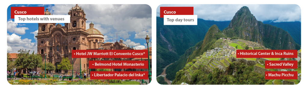 Peru Cusco Incentive Travel Day tours