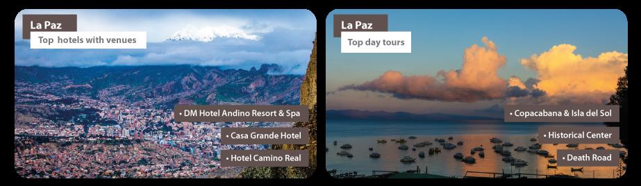 Bolivia La Paz MICE Hotels Day tours